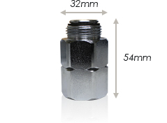 写真:ストレートスイベルジョイント81305の寸法